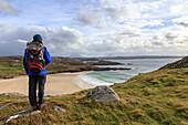 Walkers Oldshoremore on the north west Sutherland coast, Highlands, Scotland UK