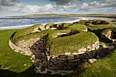 Skara Brae, settlement, excavation, Neolithic, Mainland Orkney, Scotland UK