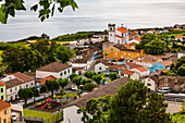 Picturesque village on the coast of the Portuguese island of Sao Miguel in the Atlantic