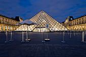 Illuminated pyramid, Louvre, Paris