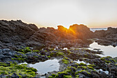 Sunset by the sea, North Atlantic, Saint-Coloumb, Brittany, France