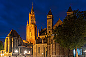 Sint Jans Church and Saint Servatius Basilica on Vrijthof Square, Maastricht