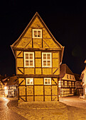 Listed half-timbered house, Finkenherd, Unesco World Heritage, Quedlinburg, Saxony-Anhalt, Germany