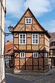 Listed half-timbered house, Finkenherd 3, Quedlinburg, Saxony-Anhalt, Germany