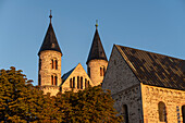 Monastery of Our Dear Women in the light of the morning sun, Magdeburg, Saxony-Anhalt, Germany