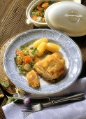 Cordon Bleu with assorted Vegetables