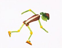 Vegetables Forming a Person Jogging