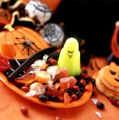 Plate of sweets for Halloween