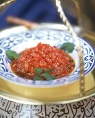 Tomato confit with sesame seeds (from Morocco)