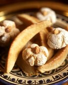 North African pastries: gazelle's horns and riba