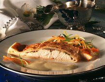 Nile perch in puff pastry