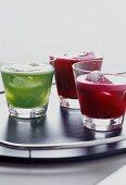 Beetroot juice and kiwi fruit juice
