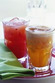 Ginger and strawberry drinks
