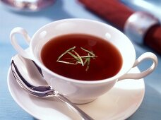 Clear tomato consomme