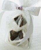 Gift-wrapped English fruit cake