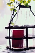 Blackcurrant juice in the bottle