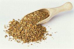Yogi tea of cinnamon, cardamom, ginger, cloves and pepper