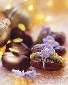 Pistachio dates (dates stuffed with pistachio marzipan)