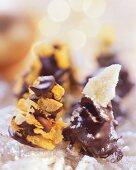 Chocolate cornflake crunchies with pineapple