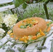 Warm savarin with vegetables (France)