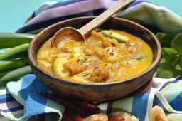 Locro de Papa (potato stew with avocado from Ecuador)