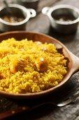 Arroz com Pequi (rice with souari nuts, Brazil)