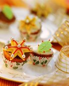 Fruit muffins for Christmas