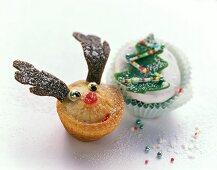 Almond spekulatius muffin and amaretto and marzipan muffin