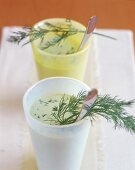 Avocado cocktail with dill