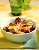 Penne with radicchio and pine nuts