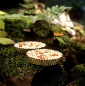 Two ham quiches with spring onions (for forest picnic)