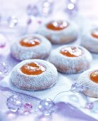Husarenkrapfen (almond biscuits with jam filling)