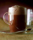 Glass of hot chocolate