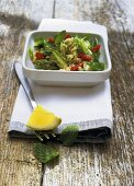 Couscous salad with asparagus and mint