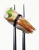 Ebi-nigiri-sushi (hand-formed sushi with shrimps)