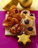 Crunchy Florentines and Swiss Amarena cherry cookies