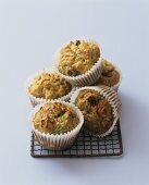 Five courgette muffins (Aga Cooking)