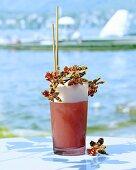 'Alene' (rum with passion fruit juice and mandarin liqueur)