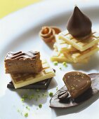 Gianduja, hazelnut fingers and amaretto coffee chocolates