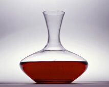 Red wine in a large carafe