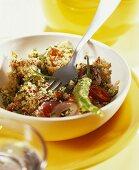 Arab parsley salad with amaranth, tomatoes and chili