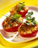 Baked stuffed tomatoes with Parmesan