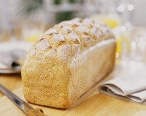 Graham bread on wooden table