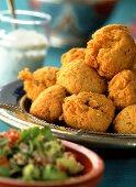 Arab buckwheat dumplings with green salad
