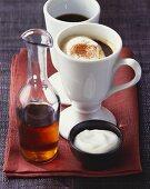 Rüdesheimer coffee with alcohol and cream