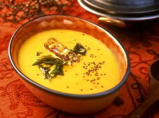 Kadhi (spicy yoghurt curry) Gujarat, India