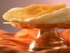 Bhatura (deep-fried yeasted bread, India)