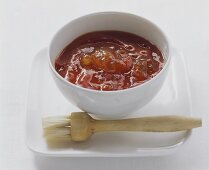 Barbecue marinade of ketchup with apricot jam
