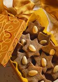 Almond stars in gift packing