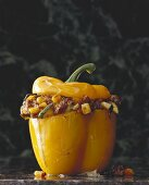 Yellow pepper stuffed with mince and vegetables